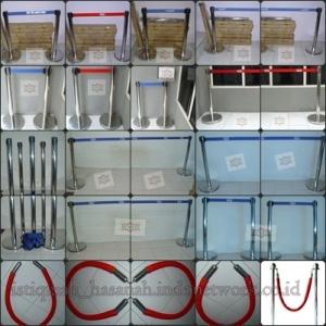 tiang antrian stainless , pembatas antrian lengkap , taing display (1)